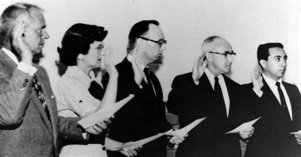 Santa Fe Springs First City Council Swearing In, 1957